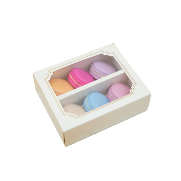 Custom Print Luxury Macarons Box With Clear Window
