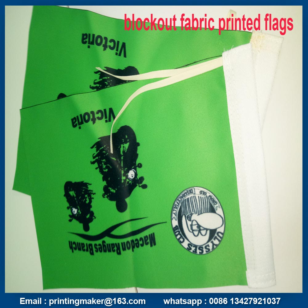 Double Sided Polyester Fabric Flag Printing