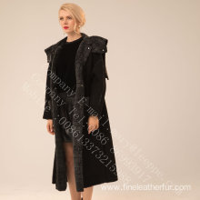 Women Long Spain Merino Shearling Overcoat