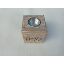 High Quality for Wooden Candle Holder 8CM Square Wooden  Holder Tray supply to Zimbabwe Factory