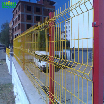 Single 3D Curved Decorative Metal Wire Mesh Fence
