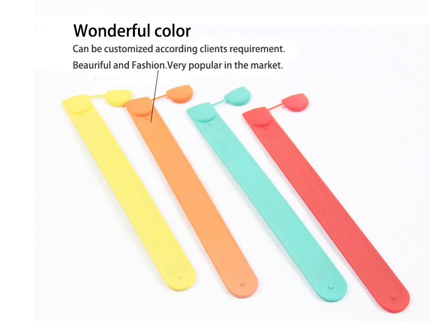 silicone slap wristbands multicolor