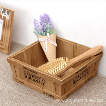 Factory Mini Wooden Organizer Box Plant Storage Box