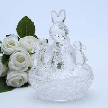 Wholesale Glass Bunny Candy Dish/Candy Jar