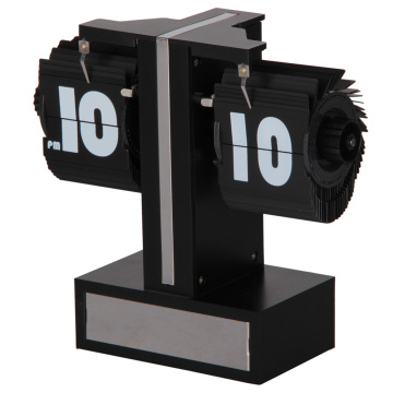 Mini Flip Down Desk Clock with A Base