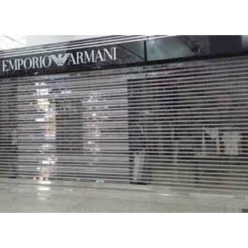 Commercial Transparent Crystal  Rolling Shutter Door