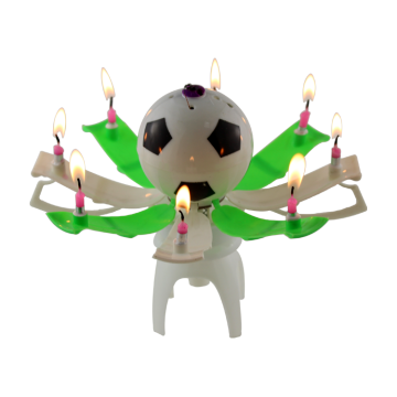 1 Pc Musical Birthday Candles Bola De Futebol