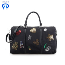 Sequined cherry Oxford union travel bag