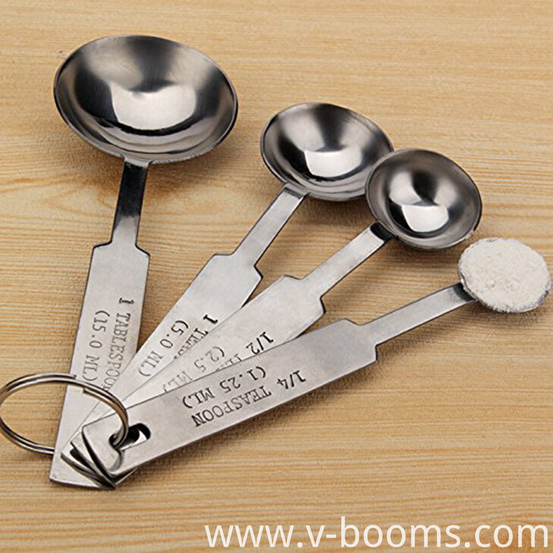 Gourmet Cooking Stainless Steel Measuring Spoons