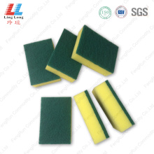 Basic green scouring sponge cleaning