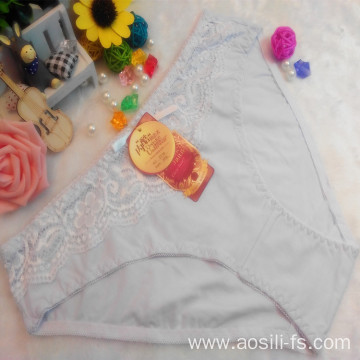 OEM wholesale China 100 cotton panty white sexy lace elastic fancy underwear 5716