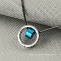 Stainless Steel Round Pendants For Men Leather Necklace