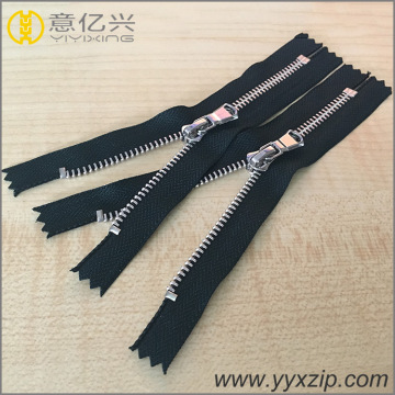 round puller metal silver teeth zipper for jacket