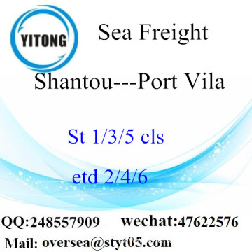 Shantou Port LCL Consolidation To Port Vila