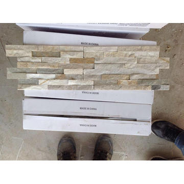Honey gold thinner stacked stones for outside wall