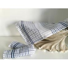 Yarn Dyed Blue White Check Napkins Pure Cotton