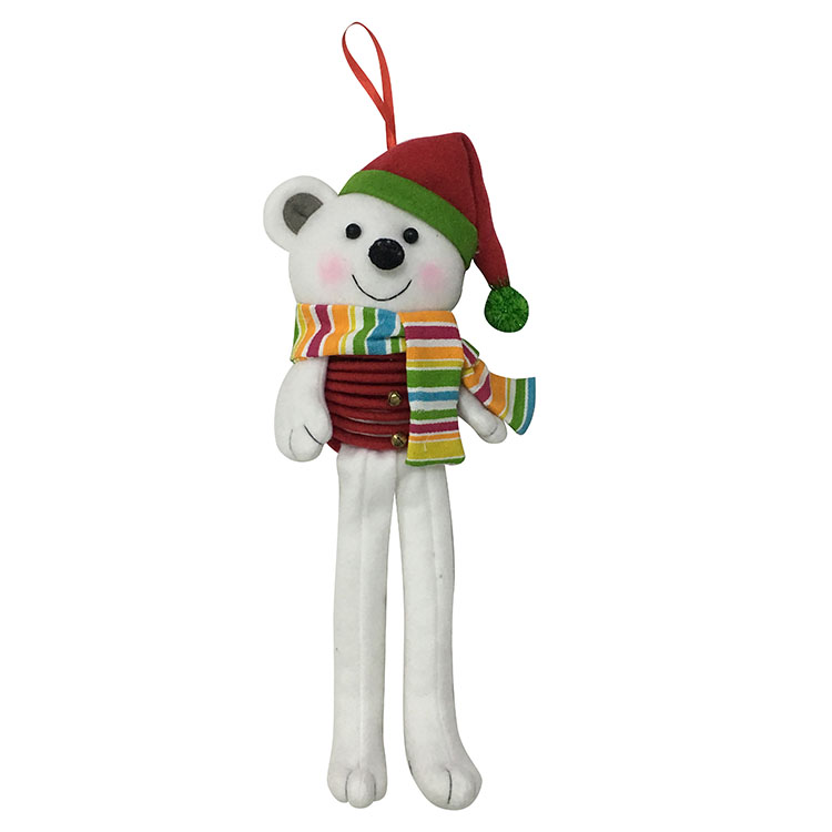 Christmas White Bear Hanging Wall Sign