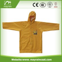 Polyester with PU Coating Raincoat for Kids