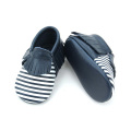 Unisex Crib Shoes Stripes Baby Moccasins