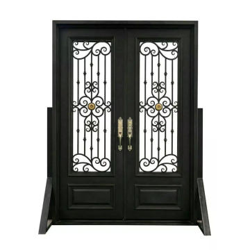 Square Top Elegant Design Iron Entrance Door