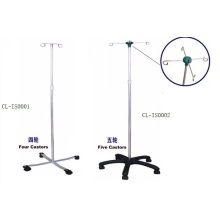 Hospital adjustable I.V. pole stand