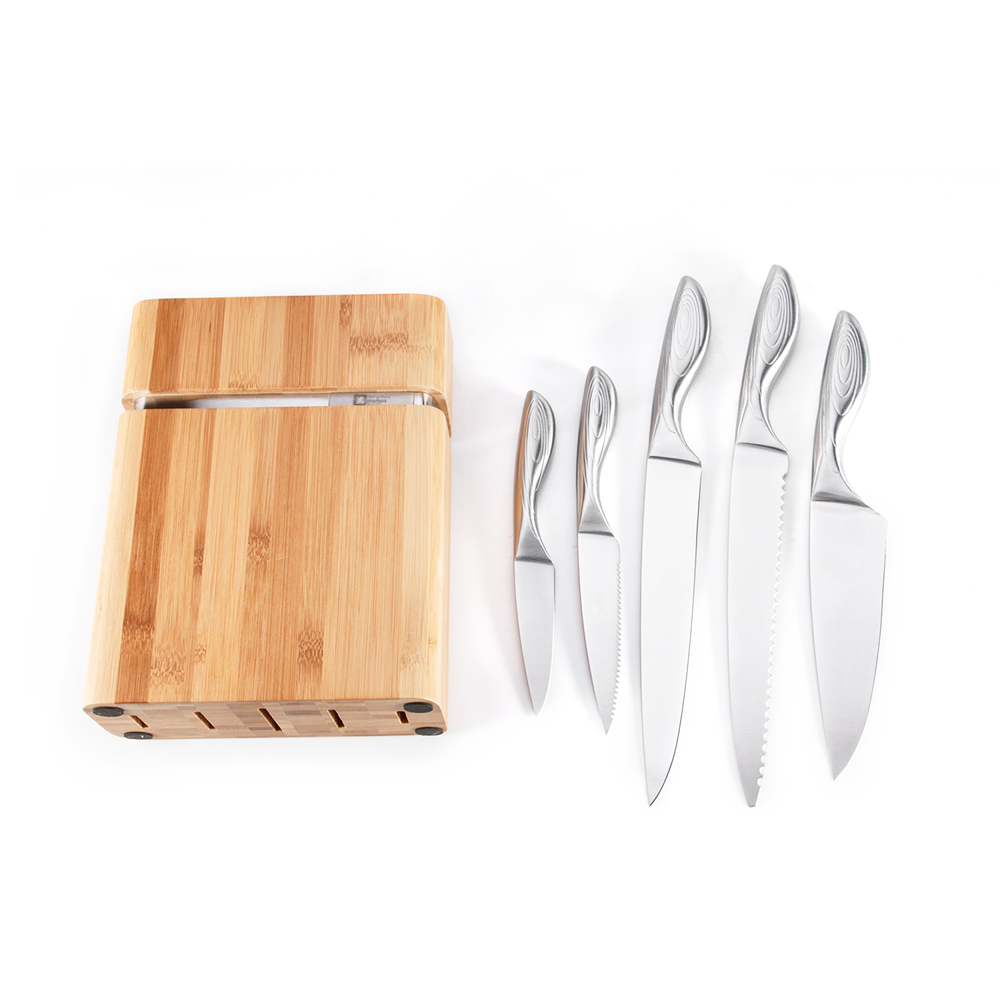 Knife Set with Bamboo Block