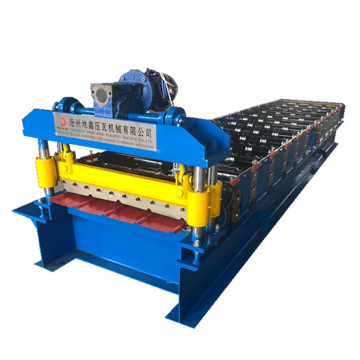 Single layer trapezoidal metal tile forming machine