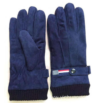 Classical sheep suede acrylic cuff fashion mens glove