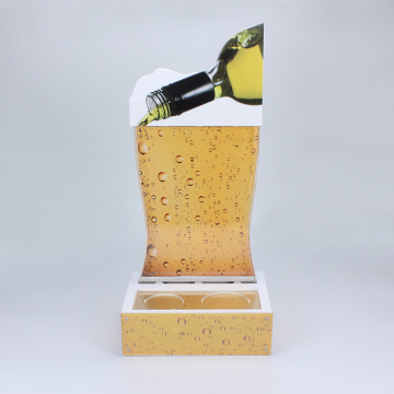 Customized-made acrylic wine display for bar