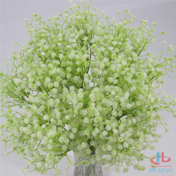 White artificial flowers baby breath flowers