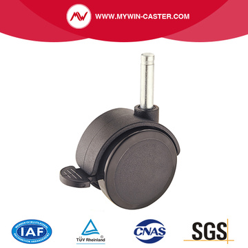 Round Stem Braked Furniture Caster