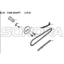 E-03 CAM SHAFT for XS125T-16A Fiddle III Spare Part Top Quality