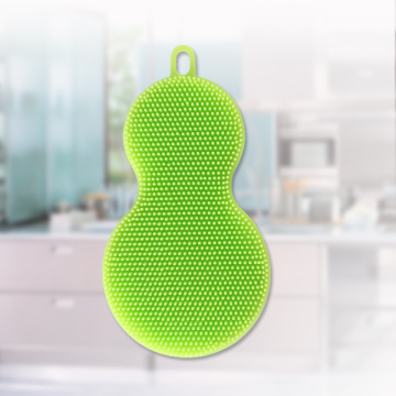 Mini silicone kitchen scrubber