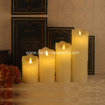 Decorative Remote control moving flame led Candle