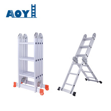 Good Quality for Folding Ladder With Hinges 20 steps high quailty aluminum ladder supply to Colombia Factories