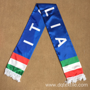 Trasfer Printing Italy Satin Fan Scarf
