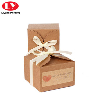 Cookies Kraft Paper Box with Ribbon Bow