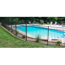 High Permance for Temporary Retractable Pool Fences Spray Black Aluminum Swimming Pool Fence supply to Namibia Manufacturers