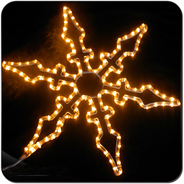 LED metal frame ornament natal floco de neve luz