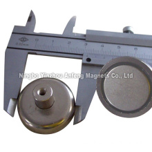 N42 ceiling hanging magnets D32*6.35 mm+M4 female thread