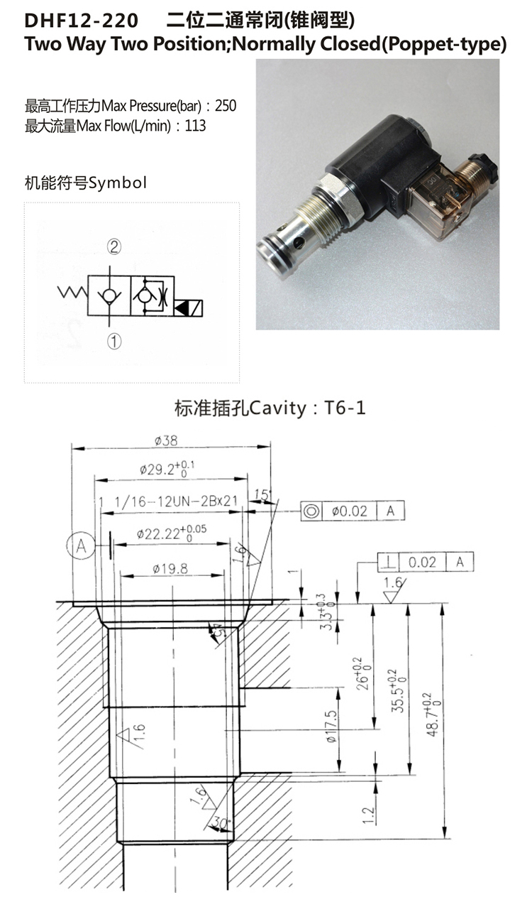 HydraForce Hydraulic Solenoid Operated Cartridge Valves