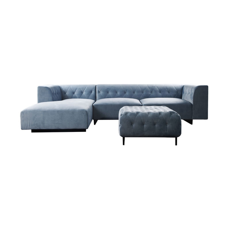 Velvet fabric living room sofa
