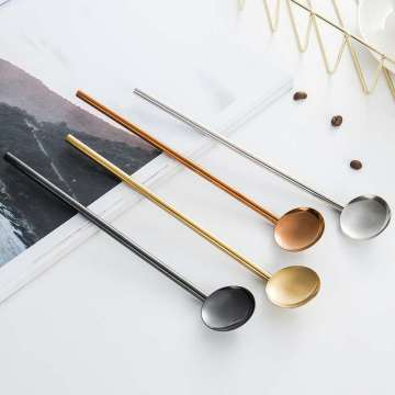 18/8 Aviation Stainless Steel Straw Spoon