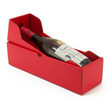 Personalized Hot Red Wine Gift Shipping Boxes