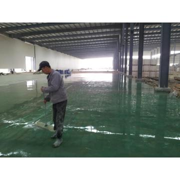 Factory solvent-free epoxy self-flowing flat paint