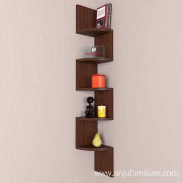 Zigzag Corner Wall Mount Shelf Unit