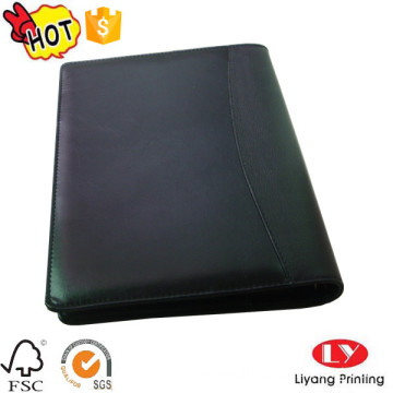 PU file office notebook with logo stamping