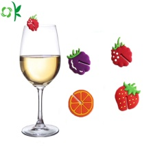 New Products Fruits Silicone Glass Markers for Cup