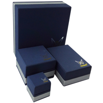Imitation leather jewellery packaging box