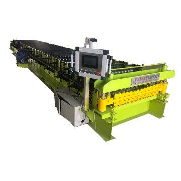 Roof tile sheet double layer roll forming machine